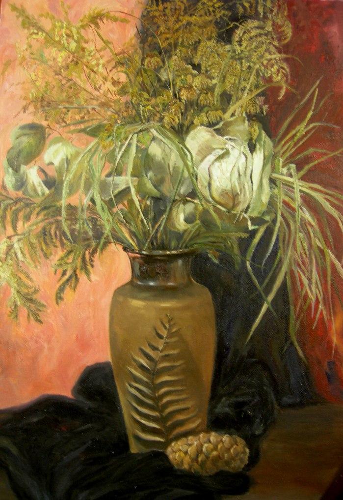 Натюрморт с сухи цветя